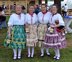 Hungarian folk costumes in the Craft Area. Smithsonian Folklife Festival 2013. Hungarian Heritage: Roots to Revival.