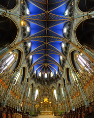 Ottawa - Notre Dame Cathedral Basilica. (edk7) Tags: old sculpture ontario canada building church architecture choir interior ottawa structure fisheye altar sanctuary d300 2013 notredamecathedralbasilica nationalcapitalregion edk7