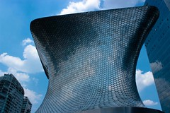 Soumaya (Ktaana) Tags: sky abstract reflection museum architecture modern clouds canon mexico eos arquitectura mexicocity df geometry cielo nubes reflejo hexagon museo abstracto hive panal eosdigital ef1855mm geometra dsrl carlosslim hexgonos canon600d ktaana canont3i lensblr photographersontumblr