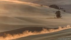 Palouse Sunset-1 (Oly-Pentax) Tags: sunset yellow washington unitedstates wheat harvest palouse easternwashington steptoebutte oakesdale
