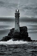 Fastnet Rock and Lighthouse (Pat Kelleher) Tags: ireland sea bw irish lighthouse white seascape black water canon coast coastal fastnet patkelleher patkelleherphotography