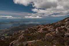 Bays and Sea (MrBlackSun) Tags: day cloudy oz derwent australia mount wellington tasmania suburbs hobart aussie tas tassie mountwellington riverderwent