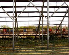 Lots of Lines (TPorter2006) Tags: rural vintage rust colorful texas chairs grove stadium retro september honey seats 2013 honeygrove tporter2006