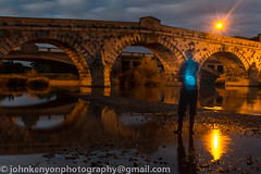 Light painting at Atcham Bridge, near Shrewsbury (johnkenyonphotography@gmail.com) Tags: light wool river painting long exposure shropshire with steel riversevern shrewsbury sparks atcham