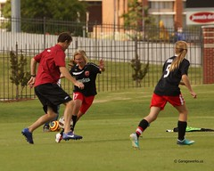 University of Arkansas Razorbacks Soccer Clinic Oct 6th (Garagewerks) Tags: woman college ex girl sport female outside soccer sony sigma os apo arkansas sec f28 dg razorbacks universityofarkansas a77 70200mm gradeschool hsm views200 vision:text=079