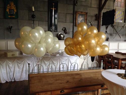 Heliumballonnen Ivoor Goud Wapen van Poortugaal