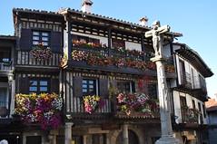 Flores en La Alberca. (lumog37) Tags: flowers windows flores ventanas balconies balcones flowerbox stonecross colombages maisonacolombages balconesfloridos floweredbalconies entramadosdemadera crucerodepiedra