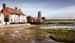 IMG_5029 - Royal Oak & Mill - Langstone - 13.11.13 (Colin D Lee) Tags: house seaweed mill public windmill boat pub mud lowtide wreck langstone theroyaloak havant thesolentway