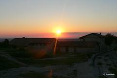 Бахчисарай, средневековый город-крепость Чуфут-Кале, закат