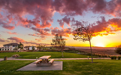 Lets have a picnic. (mnlphotography) Tags: sunset canon landscape riverside tokina t3i sycamorepark