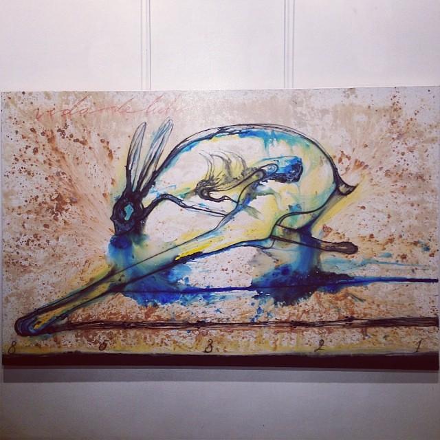 """Vida de liebre"" Jose Bedia • ""Bestiario"" #muestra colectiva #arteenlima #arte #artinlima #art #artist #artista"