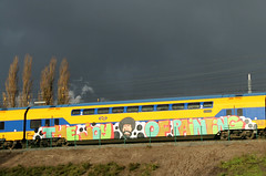 the joy of painting (wojofoto) Tags: amsterdam train graffiti bobross trein traingraffiti wojofoto treingraffiti
