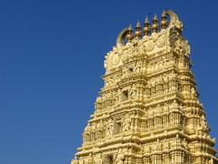 Gopuram ($udhakar) Tags: canon temple ps mysore gopuram canona520 bhuvaneshwaritemple fromarchives wwwsudhakarcom mysorepalacecompound