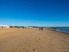 A beautiful day for a walk on the beach (Julia Livesey) Tags: england beach coast unitedkingdom boxingday sandbanks poole
