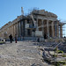 Parthenon with scaffolding