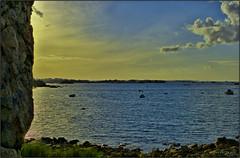 Coucher de soleil sur la côte de granit rose (jyleroy) Tags: ocean pink sunset sea mer france lumix coast brittany europe bretagne côte breizh granite manche coucherdesoleil granit plougrescant côtesdarmor côtedegranitrose pinkgranitecoast panasonix fz150