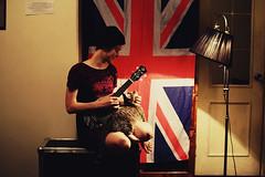 Yulia Kryukova/InWhite (Anastasia Autumn) Tags: uk musician music home lamp girl cat jack video ukulele union kitty indie purr acoustic british lovely russian comfy murr inwhite