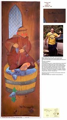 1982 Painting - To ''Brother Bob''  from Brother Matthew OSF,  Late 1981   -   27 in x 9 in  on wood (carlylehold) Tags: 1982 painting brother matthew osf 1981 franciscan monk eureka st josephs hill black madonna shrine robert haefner history happens here louis stories mo missouri 1917 1914 robertchaefner c bob