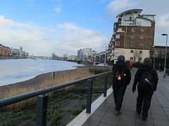 UK - London - Near Battersea - Walking along Thames Path (JulesFoto) Tags: uk england london walking battersea riverthames ramblers thamespath vision:mountain=077 vision:sky=0879 vision:outdoor=0978 sutton