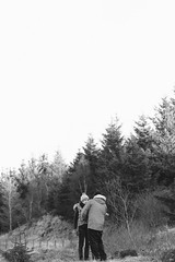 zip me up... (chriscameron) Tags: winter blackandwhite bw forest canon landscape photography eos scotland couple lifestyle fintry 2014 carronvalley chriscameron 5dmkiii