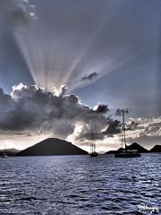 blue evening (Jwaan) Tags: ocean blue sunset sea clouds sailboat island caribbean tortola bvi britishvirginislands westindies sopershole