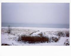 shore (jonnyoptimo) Tags: winter snow cold film wisconsin lakemichigan racine racinewi instantfilm fujiinstax210