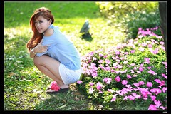 nEO_IMG_DP1U7264 (c0466art) Tags: show light portrait baby white cute girl beautiful lady female canon happy jump eyes energy asia pants sweet taiwan short attractive alive cheer lovely charming ourdoor goegeous 1dx  c0466art