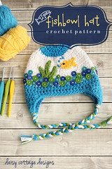 Fishbowl Hat Crochet Pattern (Daisy Cottage Designs) Tags: blog goldfish buttons crochet fishbowl crochetpattern earflaphat fishbowlhat freecrochetpattern