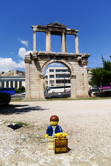 Travels of badger - The Arch of Hadrian  in Athens (enigmabadger) Tags: greek ruins lego fig roman columns greece temples minifig custom printed minifigure athenian ακρόπολη αθήνα brickarms αθηνών