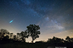 Bright Camelopardalid (kevin-palmer) Tags: ohio sky night bolide dark illinois spring bright may galaxy astrophotography astronomy fireball dsf milkyway meteorshower samyang kevinpalmer pentaxk5 greenriverstatewildlifearea samyang10mmf28 camelopardalids