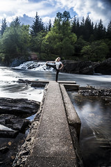 Yoga River Orchy (Dave Stocks) Tags: trees nature water yoga river concrete flow big movement long exposure sony ds images lee nd flowing alpha filters za orchy stopper scoltand a99 variosonnart282470