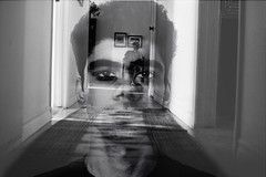 [2/52] Get Inside My Head (Ahmed Shamsi) Tags: people blackandwhite selfportrait art photoshop canon doubleexposure creative week2 sigma30mmf14 canonrebelxti 52weekphotographyproject
