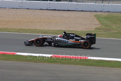 Nico Hulkenberg in Free Practice 2 at the 2015 British Grand Prix at Silverstone