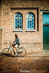 Amsterdam, Noord-Holland, Netherlands (Stewart Leiwakabessy) Tags: park houses windows holland netherlands girl amsterdam bike bricks nederland thenetherlands bikes bicycles hdr fiets noordholland amsterdamoost oostpoort watergraafsmeer parkfrankendaal northholland cbk