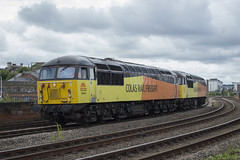 56105 + 56087 0Z56. 19th July 2015 (MitchellTurnbull) Tags: park light yard engine july rail junction tyne class gateshead lane 56 19th doncaster 2015 colas 56087 56105 0z56