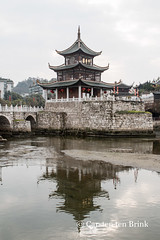 Jiaxiu Tower (10b travelling / Carsten ten Brink) Tags: 10btravelling 2016 asia asie asien carstentenbrink china chine chinese guiyang guizhou iptcbasic jiaxiu nanming prc peoplesrepublicofchina southwest reflected reflection river south southernchina tenbrink tower 中华人民共和国 中国 西南 贵州