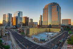 Downtown Phoenix, AZ (JAKE PINEDA) Tags: arizona phoenix downtown hdr sunset dusk nikon d810 nikkor 1424 f28 wide angle cityscape city asu