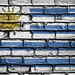 National Flag of Uruguay on a Brick Wall