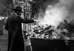 Burn! (Ivona & Eli) Tags: passover pesah pesach leaven burning ritual israel judaism middle east man hassidic jewish jew spring