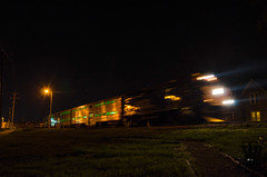 Metra moving at Night (photo-engraver1) Tags: railroad wisconsin night train transportation metra trainspotting kenosha