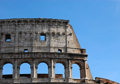 The top of the Coliseum (sandpipers81) Tags: rome roma art architecture photoshop nikon arte architettura colosseo nikond40