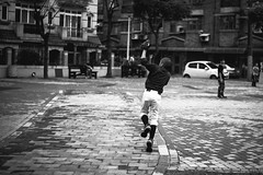 ( (Jason Lin)) Tags: people bw sport 50mm blackwhite nikon freestyle baseball player nikkor      d600   jhongli 50mmf18g