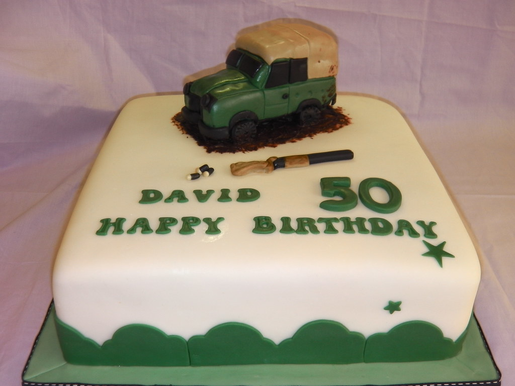 Landrover Cake (Mandys Homemade Cakes) Tags: cake covered 50th ...