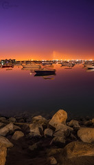 Purple sunrise - at Summer 2013 (Ateyah J. Hujaili) Tags: city morning summer photoshop sunrise landscape photography aperture purple sony mooring lightroom exposures nex yanbu  2013 5n   alhujaili ateyah