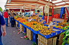 Thursday market (sixthofdecember) Tags: travel people italy food orange apple fruit outside lemon nikon colours pears market lemons pear apples oranges colourful lazio mela pera tamron18270 nikond5100