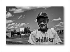 Joe (Mark ~ JerseyStyle Photography) Tags: portrait people bw portraits blackwhite newjersey streetphotography joe frame phillies 2013 canon50d 100strangers allentownnewjersey newjerseyphotographers 90x100 june2013 markvkrajnakallrightsreserved2013