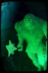 Kenner Swamp Thing - Swamp Thing [Bio-Glow] (Ed Speir IV) Tags: monster dark toy actionfigure book tv comic glow action thing cartoon glowinthedark swamp hero figure superhero glowing kenner mace swampthing creature 1990s 90s gitd bioglow