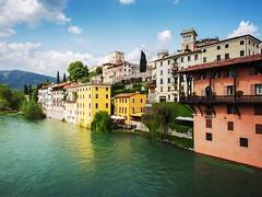 Italian colors. (MarcoSartoriPhoto) Tags: city sky urban italy nature clouds river