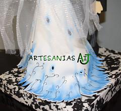 Fofucha novia cadaver falda (Artesanias AIJ) Tags: aniversario boda disney recuerdo regalo artesania manualidad gomaeva fofucha