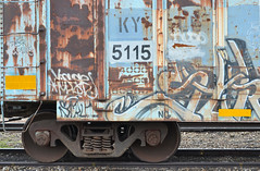 collaged canvas (Patinagal) Tags: abstract color metal train paint grafitti trains boxcar patina freighttrain